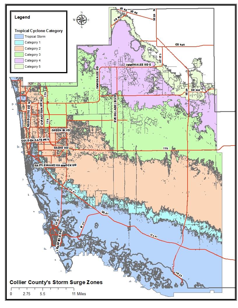 Storm Surge Map Naples Fl : storm, surge, naples, Collier, County, Florida, Storm, Surge, County,