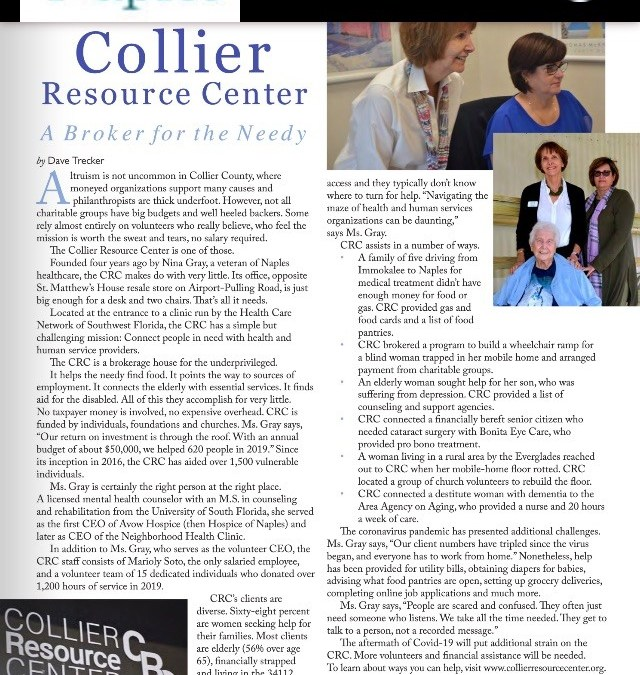 CRC Featured in Life in Naples August 2020 Magazine