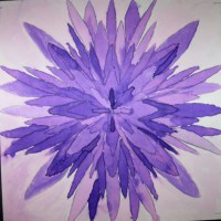 7th Grade Geometric monochromatic watercolor paintings ...