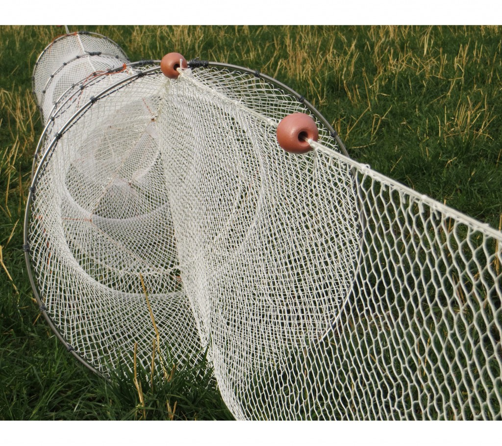 Single fyke nets for eels and fish collins nets ltd for Hoop net fishing