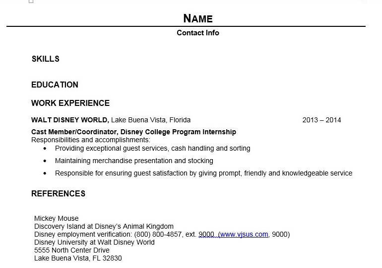 Writing Your DCP Resume Elly And Caroline's Magical Moments