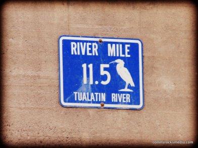 Tualatin River Mile Signs