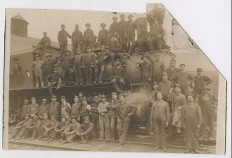 railroad workers posed CWHS c1910s