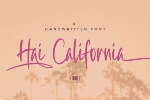 Hai California - A Handwritten Font