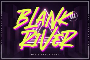 Blank River - A Mix 'N Match Font
