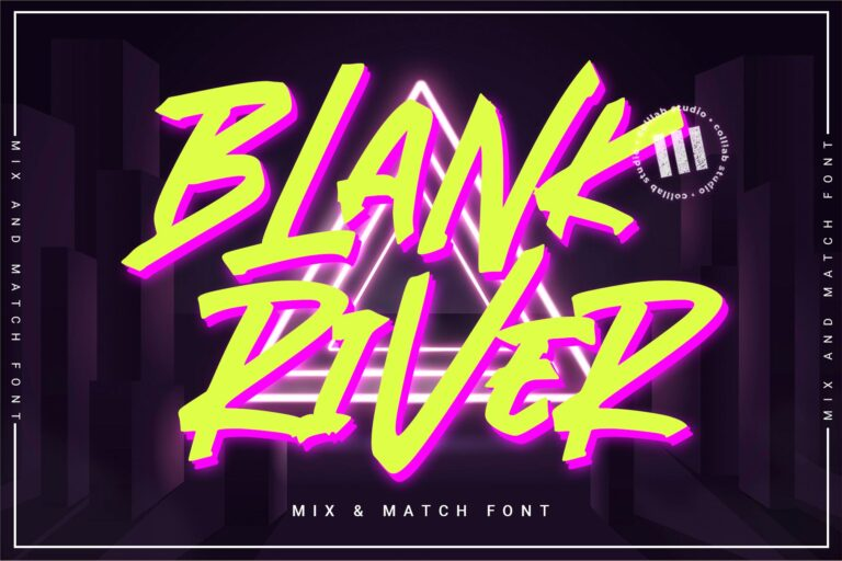 Preview image of Blank River – A Mix 'N Match Font