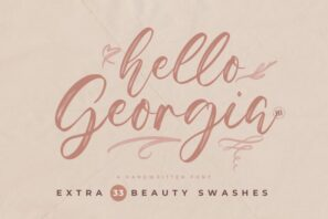 Hello Georgia - A Handwritten Font