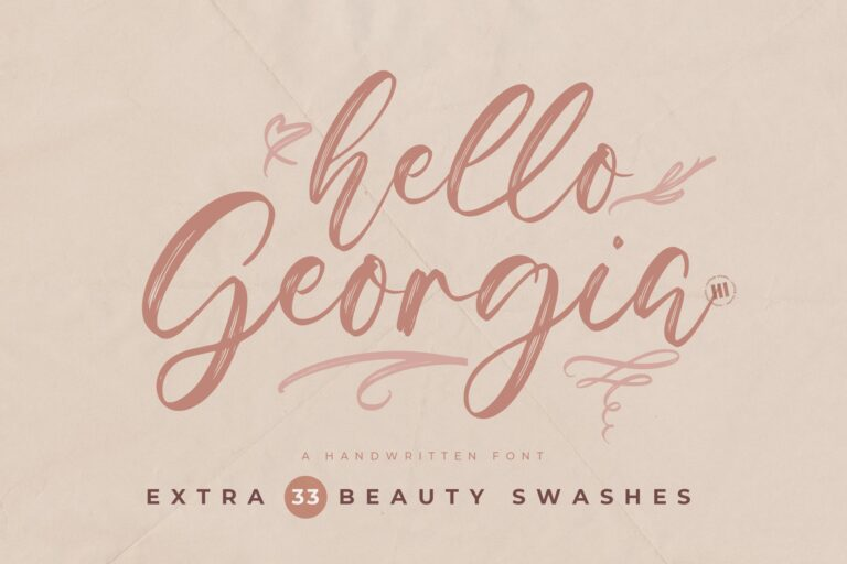 Preview image of Hello Georgia – A Handwritten Font