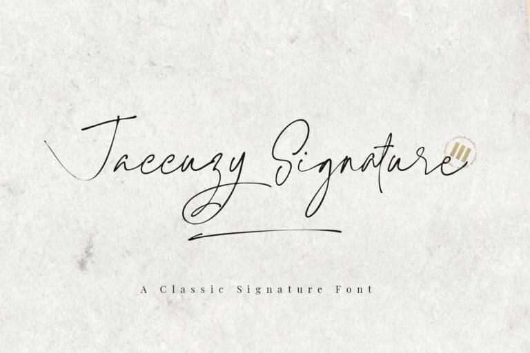 Preview image of Jaccuzy Signature – A Natural Signature Font