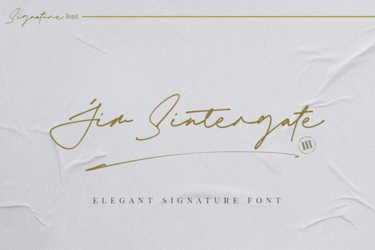 Preview image of Jim Sintergate – An Elegant Signature Font