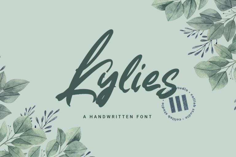 Preview image of Kylies – A Handwritten Font