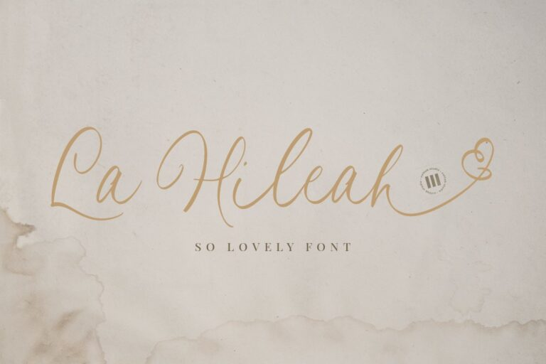 Preview image of La Hileah – A Lovely Font