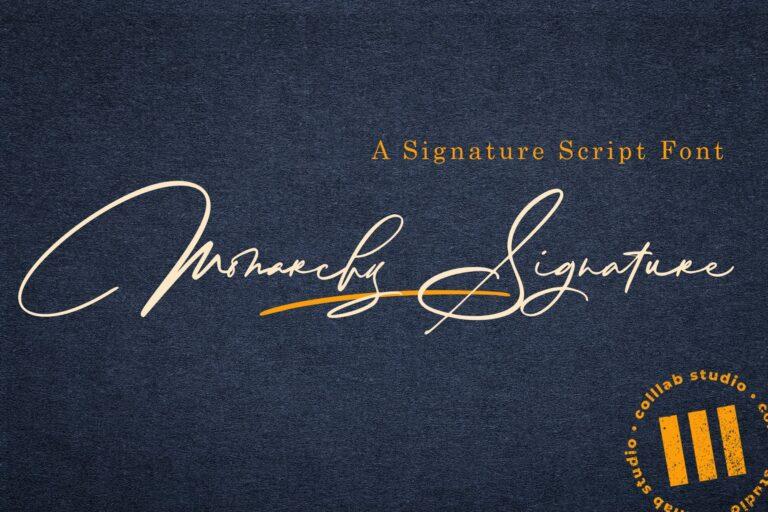 Preview image of Monarchy Signature – A Signature Script Font