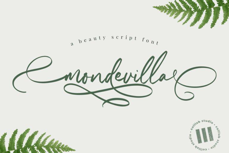 Preview image of Mondevilla – A Beautiful Script Font