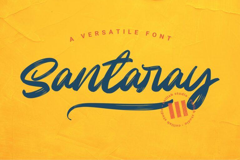 Preview image of Santaray – A Versatile Font