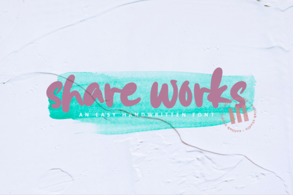 Preview image of Shareworks – An Easy Handwritten Font