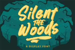 Silent Woods - A Display Font