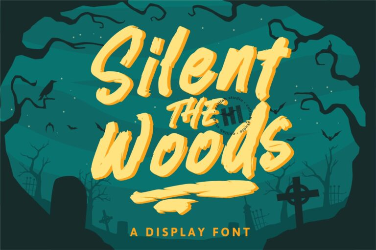 Preview image of Silent Woods – A Display Font
