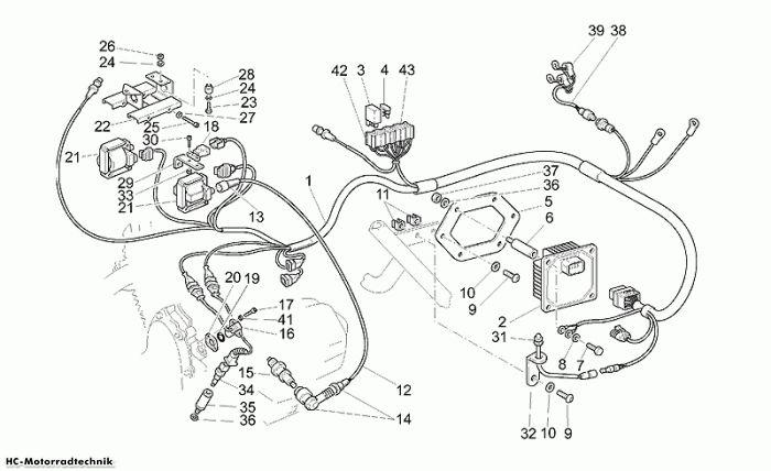 Moto Guzzi Elektrische Anlage California Special 1100