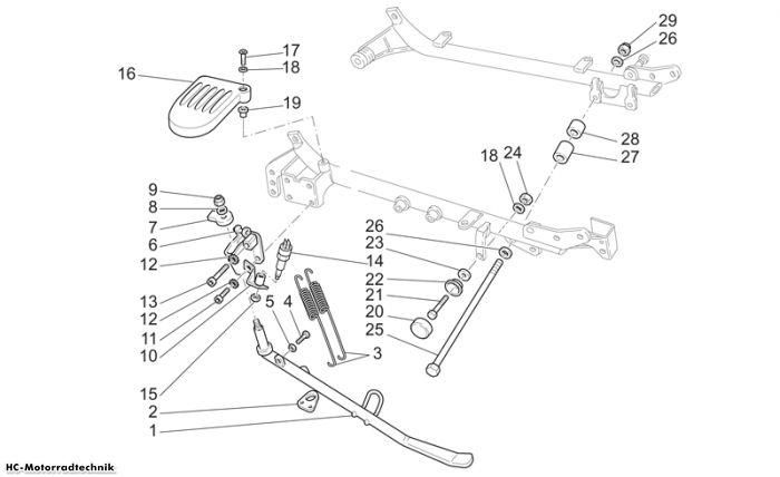 Moto Guzzi Seitenständer California Sto./Tour PI Cat 1100