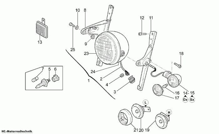Moto Guzzi Scheinwerfer California Special 1100