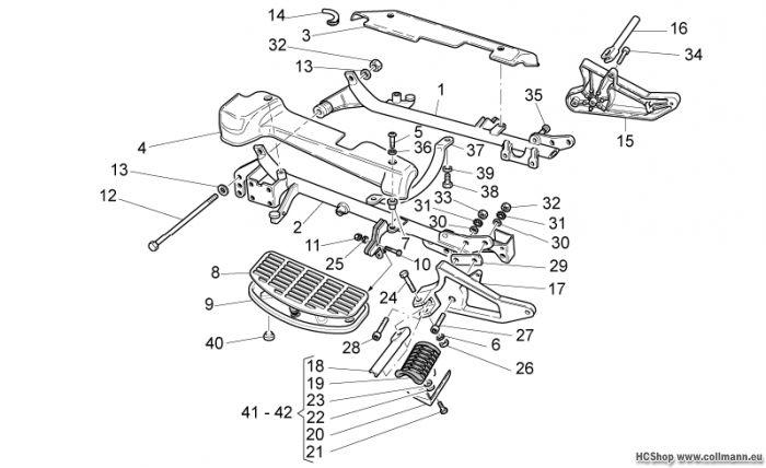 Moto Guzzi Wiegen-Fussrasten California Aquila Nera 1100