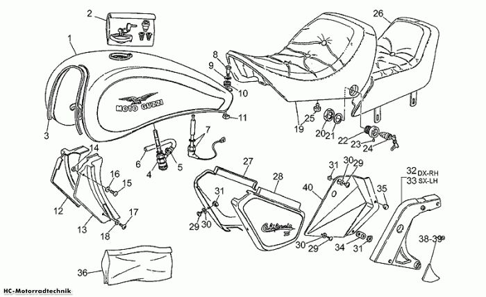 Moto Guzzi Aufbau California III Iniezione 1000