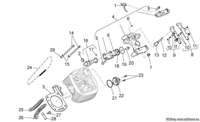 Moto Guzzi Links Zylindersteuer Stelvio 1200 8V STD-NTX