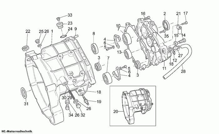Moto Guzzi Getriebegehäuse California Stone 1100