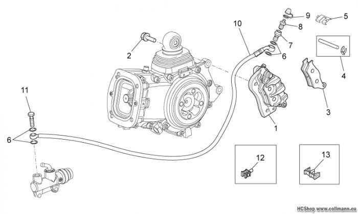 Moto Guzzi Hinterradbremszange Stelvio 1200 8V STD-NTX