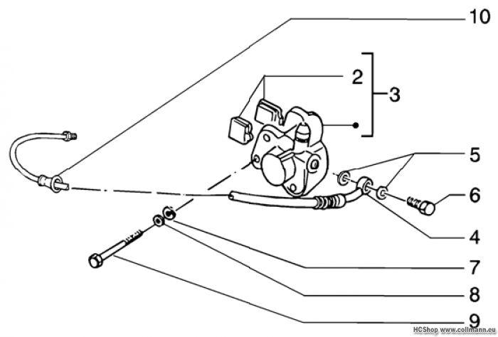 Gilera Vordere bremsleitung-vordere Runner 50 Purejet