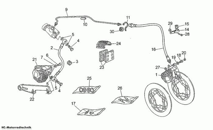 Moto Guzzi Bremsanlage-Vorn/Hinten California 1100
