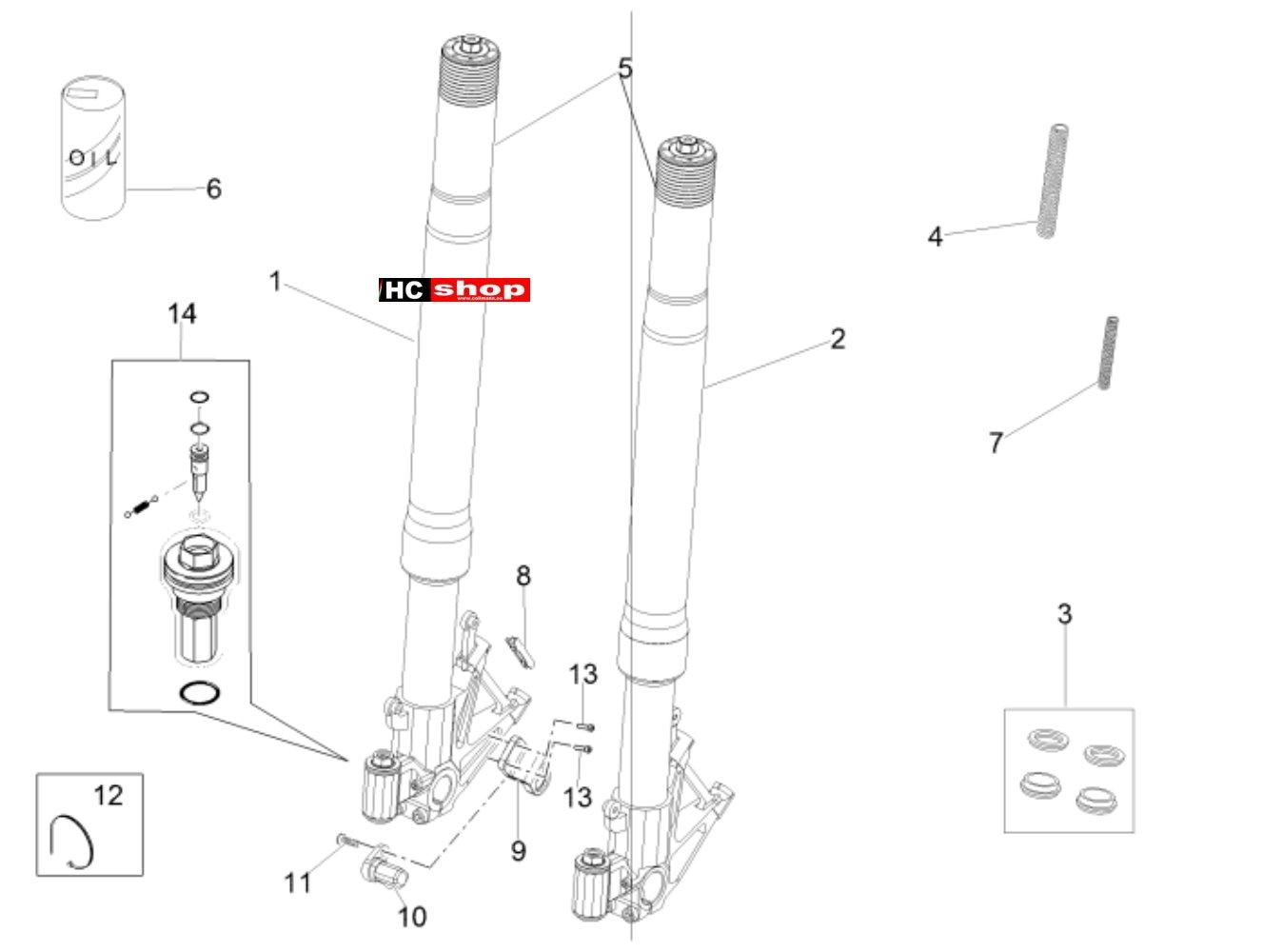 Aprilia RSV 4 1000 RF E3 ABS Radaufhängung Vorderradgabel