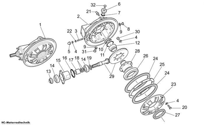 Moto Guzzi Getriebe kpl. II California Vintage 1100