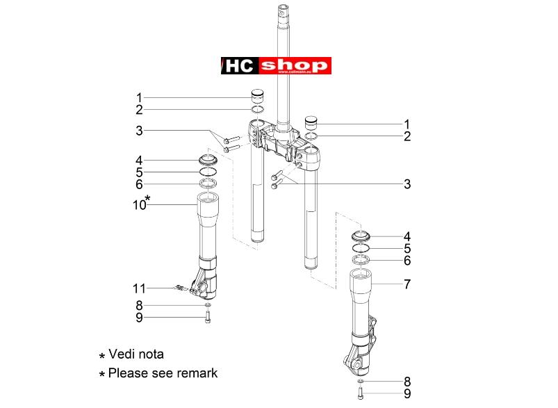 Piaggio Beverly 300 ABS Radaufhängungen Gabelkomponenten