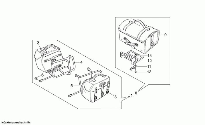 Moto Guzzi S.Tasch Ld California EV/EV Touring/80 1100
