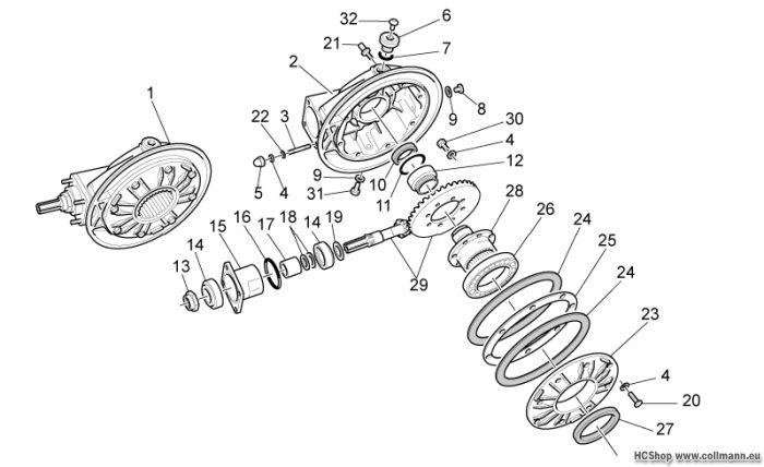 Moto Guzzi Getriebe kpl. II California Aquila Nera 1100