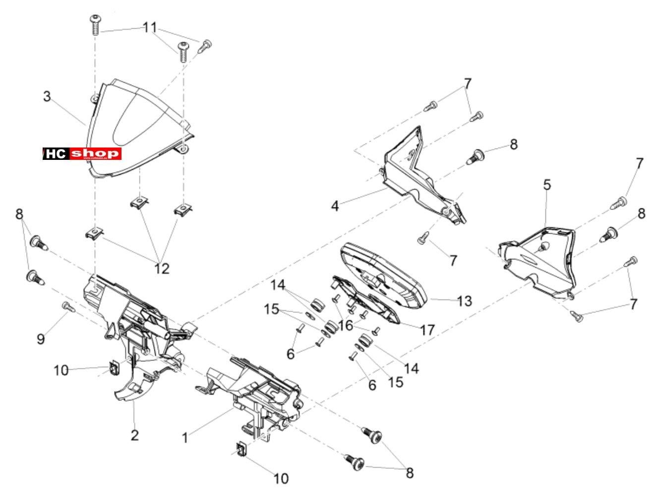 Aprilia Tuono V4 1100 RR E4 ABS Lichter Instrumente