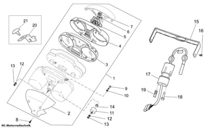 Moto Guzzi Instrumententafel Nevada Classic IE 750