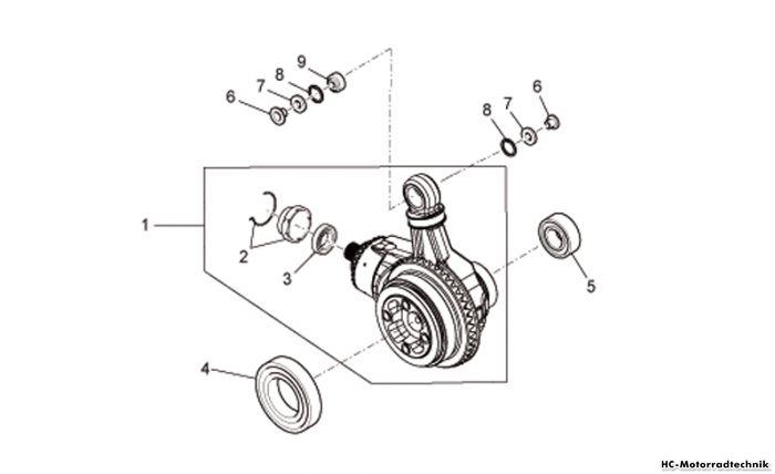Moto Guzzi Getriebe kpl.-Teilerradsatz Bellagio 940
