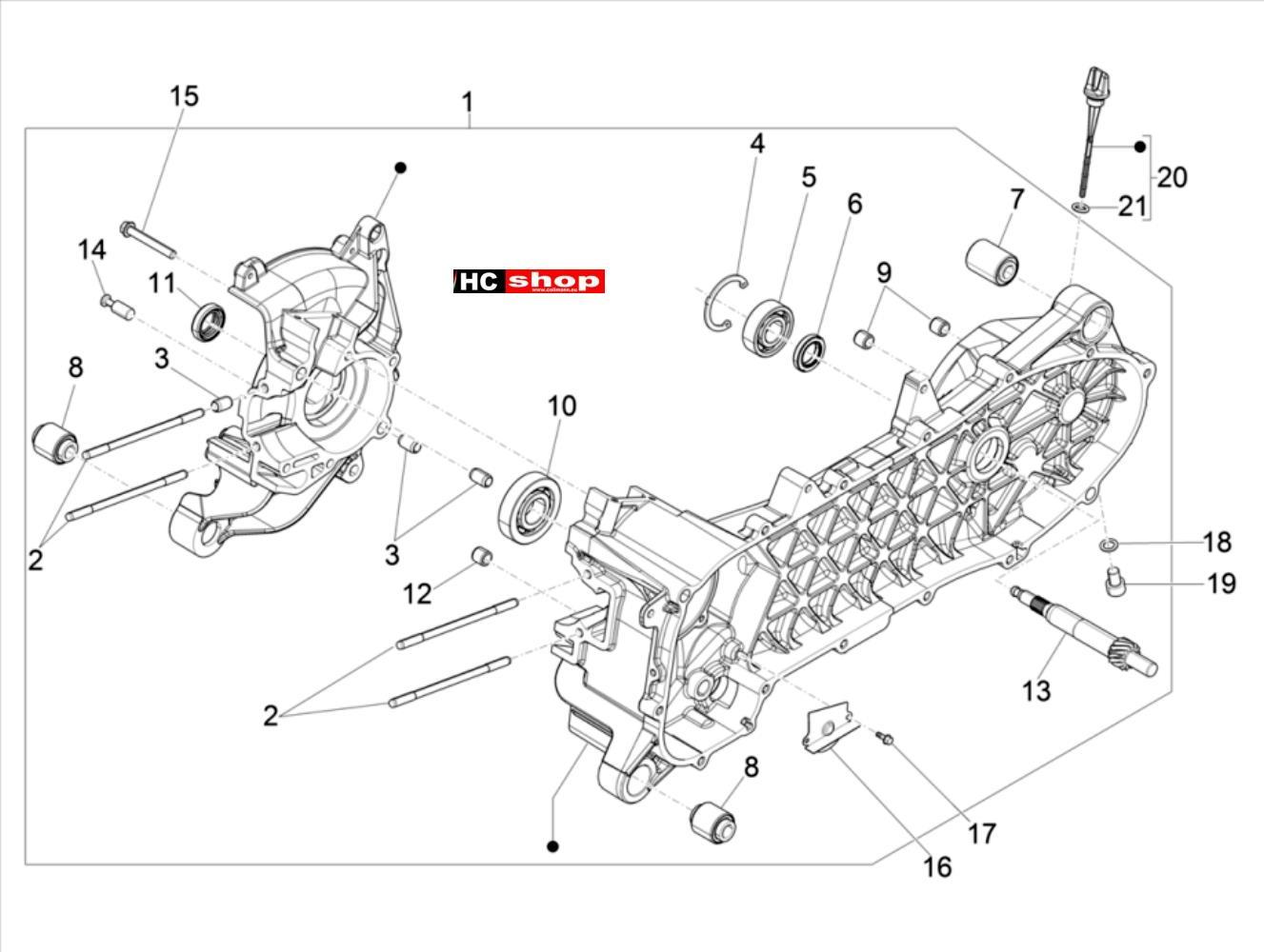 Piaggio Liberty iGet 50 4T 3V E4 Motor