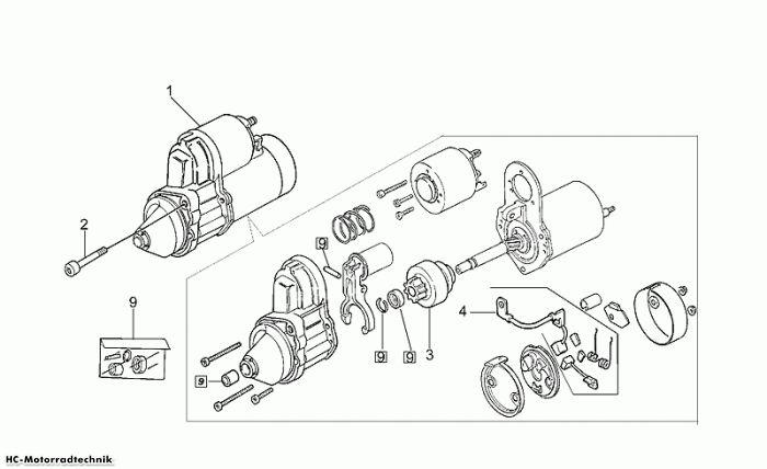 Moto Guzzi Startermotor California Special 1100