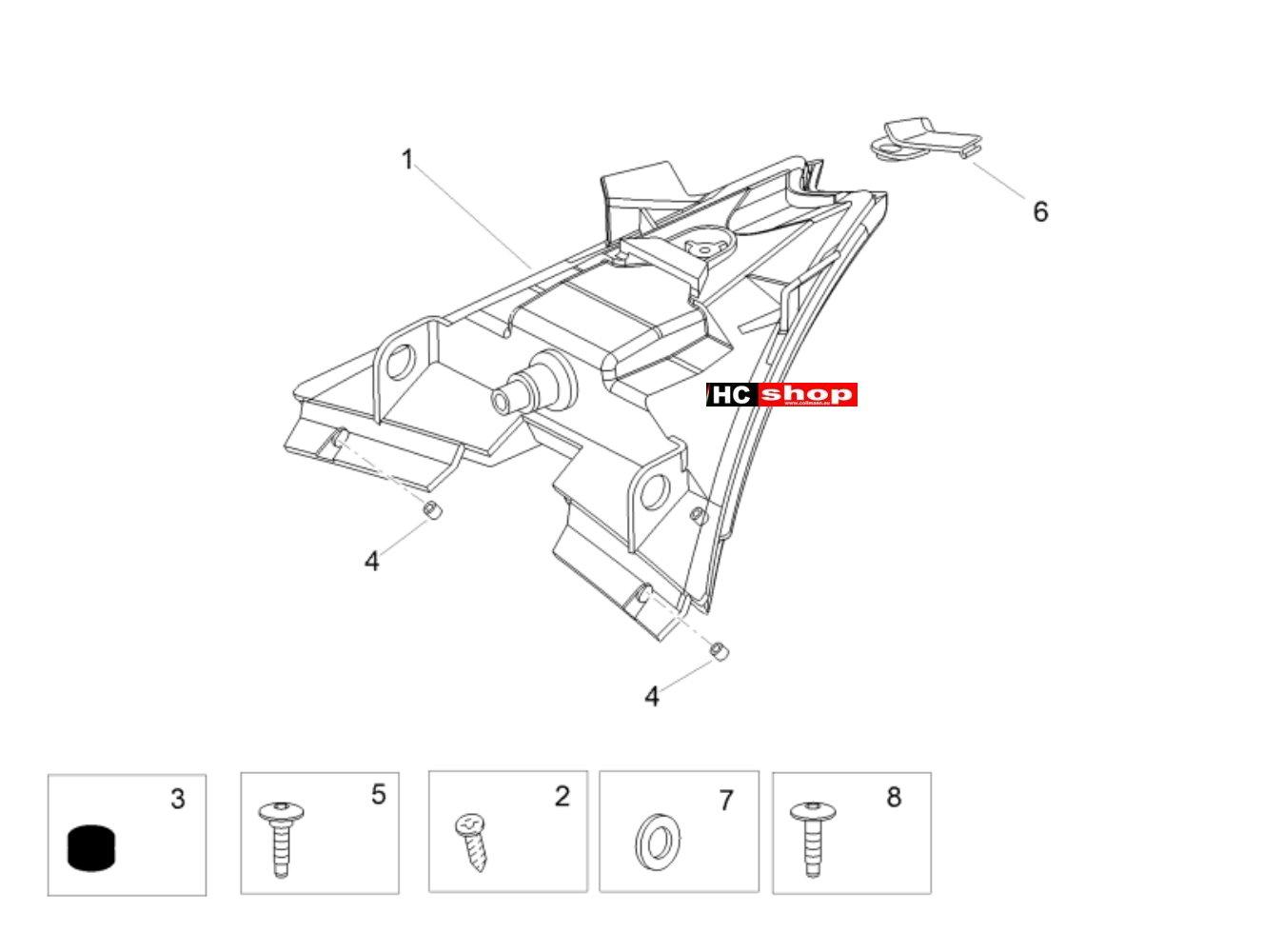 Aprilia Tuono V4 1100 Factory E4 ABS Lichter Hinterlichter