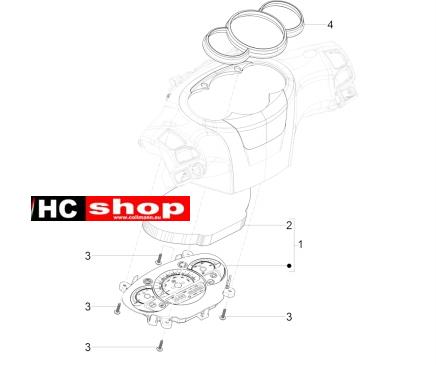 Piaggio Beverly 300 ABS Lenkung Cockpitinstrumente