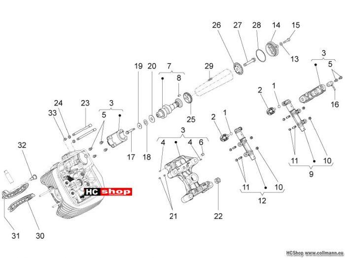 Moto Guzzi Links Zylindersteuer Neu Stelvio 1200 8V STD