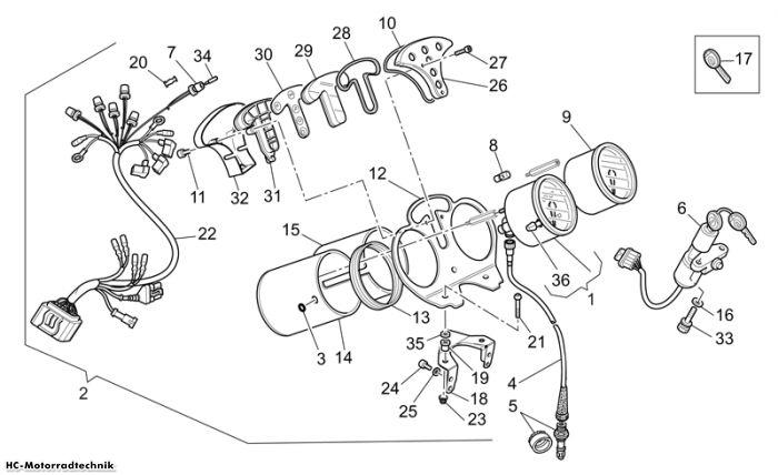 Moto Guzzi Instrumententafel California EV PI Cat. 1100