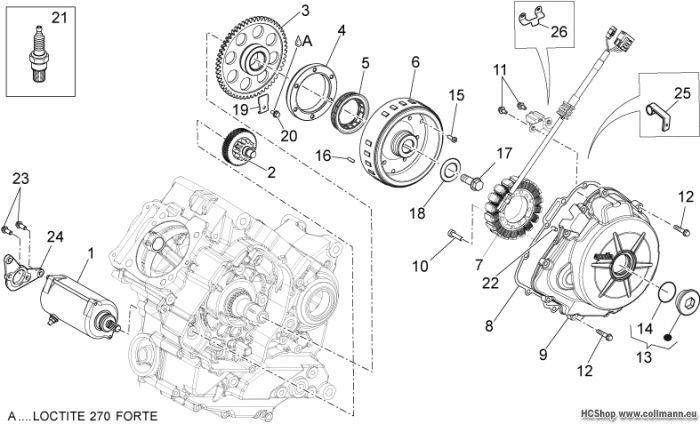 Aprilia Zündgruppe Anlasser-Lichtmaschine Dorsoduro 1200