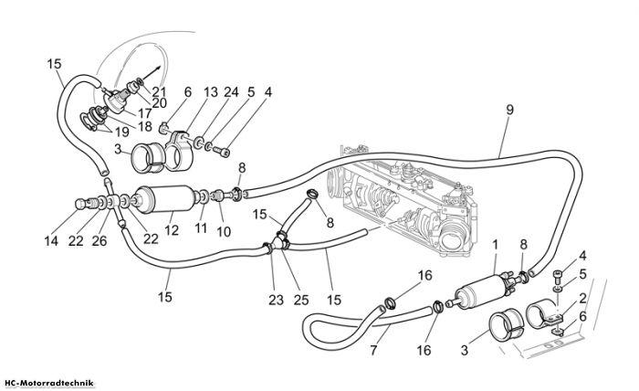 Moto Guzzi Einspeisung California EV/EV Touring PI 1100