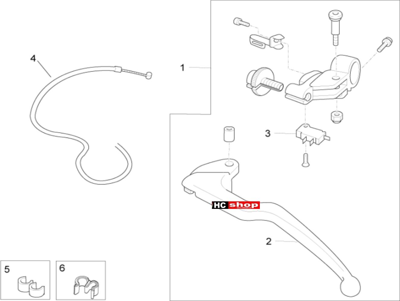 Aprilia RSV 4 1000 RF E3 ABS Lenker Kupplungssteuerung