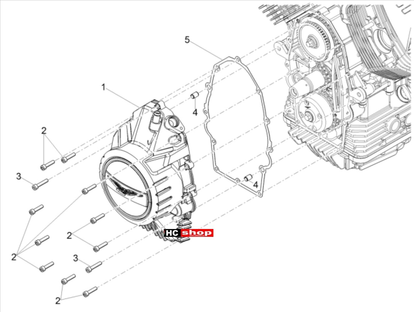 Moto Guzzi V85 TT TRAVEL PACK E4 ABS Motor Zünderdeckel